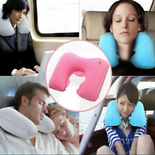 Portable Inflatable U Shaped Travel Neck Pillow With Sleeping Eye Mask Ear Plugs