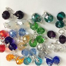 50Pcs Crystal Jewelry Making charms fit Chain Bracelets,Necklaces & Earrings new