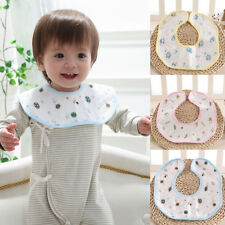 Newborn Infant 360 Degrees Rotation Soft Cotton Bib Saliva Towel Baby Care Great