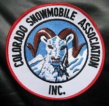 """COLORADO SNOWMOBILE EMBROIDERED SEW ON  PATCH ASSOCIATION PROMOTE SAFETY 5"""""""