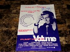 Christian Slater Signed Autographed Pump Up The Volume Half Sheet Movie Poster