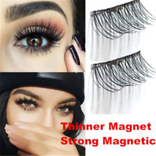 Magnetic Sexy 3D False Eyelashes No Glue Thinner Magnet Extension Eye Lashes 2PC