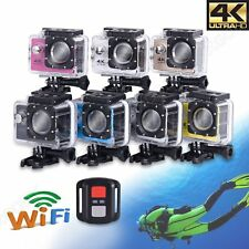 2'' LCD Ultra HD 4K Helmet Action DV Sports Camera Waterproof DVR Dash Cam WIFI