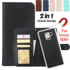 For Samsung Galaxy A8/ A8 Plus A7 2018 Flip Leather Case Card Slot Wallet Cover