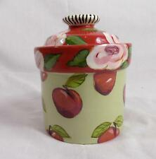 Droll Designs Canister Neiman Marcus Cherry & Rose Garden Small RETIRED