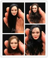 """1/6 JXTOYS-015 Asian Female Planted Hair Head Carving Fit 12"""" Hot Action Figure"""