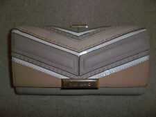 GORGEOUS RIVER ISLAND BEIGE/BROWN CLUTCH CLASP PURSE/WALLET HOLIDAY