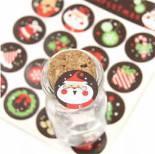 5/10 Sheets Christmas Envelope Seal Sticker Label Badge Xmas Gift Decor DIY Art