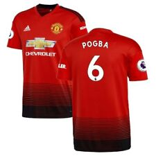 Paul Pogba Manchester United adidas 2018/19 Home Replica Player Jersey - Red