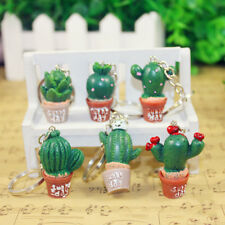 Fashion Simulation Cactus Key Ring Key Chain Car Bag Hangbag Plant Pendant Gift