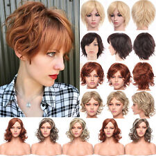 Full Wig Highlight Blonde Synthetic Hair Curly Straight Wave Costume Wigs Long