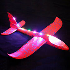 Hand Launch Kids Gift Throwing Glider LED Airplane Model Outdoor Toy Foam EVA