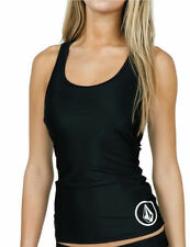 Volcom Black Simply Solid Racerback Cheeky Tankini Swimsuit Set L NWT NEW