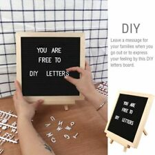 "Felt Letter Board 10x10"" Wood Frame with Changeable Letters Numbers Symbols"