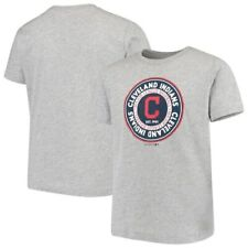 Youth Heathered Gray Cleveland Indians Circle Logo T-Shirt