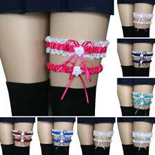 HB- 2Pcs/Set Women Bowknot Lace Garter Sexy Bridal Leg Garter Cosplay Decor Sera