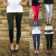 LONG LENGTH Leggings Viscose Elastane BLACK Sizes 6-18  Tall
