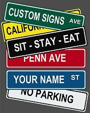 "Personalized Custom Street Signs - 6"" x 24"" Aluminum!"