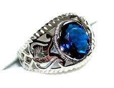 Unique Sapphire Sterling 925 Ring  September Birthstone