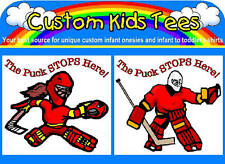 Hockey Goalie Custom Infant Baby Onesie Creeper Bodysuit or Toddler Kids T-shirt