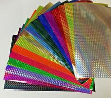 "Prism Sign Vinyl 12 Inch x 10 feet, Holographic 1/4"" Mosaic Colors"