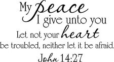 My Peace I Give You Lettering Sticker Vinyl Decal Words