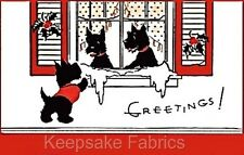 Christmas Scottie Dogs Applique Multi Sizes