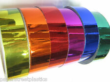 Colored Chrome Tape, Choose your Colors and Sizes, Metalized Plastic Vinyl Tape