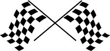 Checkered Racing Flags Vinyl Wall Decal Stickers Office Garage Room Decor