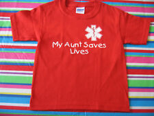 MY AUNT SAVES LIVES FIRE DEPARTMENT TODDLER T-SHIRT