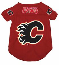 NEW CALGARY FLAMES PET DOG MESH HOCKEY JERSEY ALL SIZES LICENSED