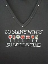 New Fashion T-shirt by Get Lucky Drinking So Many Wines So Little Time