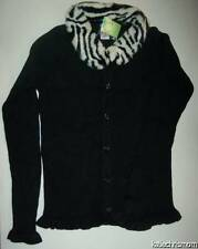 NWT Gymboree MOD ZEBRA Womens xs l xl mommy mom BLACK SWEATER REMOVABLE COLLAR