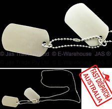 1 set of USA Military Army Tag Dog Tags Hip Hop Party Costume Necklace Chain