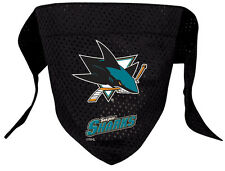 NEW SAN JOSE SHARKS PET DOG MESH HOCKEY JERSEY BANDANA ALL SIZES LICENSED