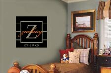 Custom Name Monogram Vinyl Wall Decal Stickers Letters Racing Room Decor Words