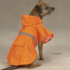 Guardian Gear Reflective Dog Rain Jacket Coat W/Hood ORANGE - XXS-XXL