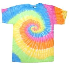 Pastel Multicolor Tie Dye T-Shirts Size Youth to Adult XL. Check Description