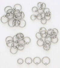 10pcs Steel Captive Bead Rings 10g,12g,14g,16g,18g Wholesale Lot Body Jewelry