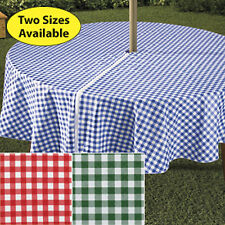 wrap around Umbrella Table cloth cover zippered easy on fit garden patio deck