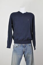 Tommy HOMME PULL NEUF 100% Coton BLEU COLV tailles S, M, L, XL, XXL dispos