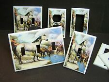 BUCKSKIN HORSE HORSES AT WATERING HOLE  LIGHT SWITCH OR OUTLET COVER