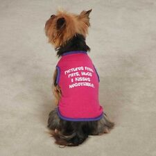 Casual Canine Pictures Free Tank Top for Dog Puppy Raspberry