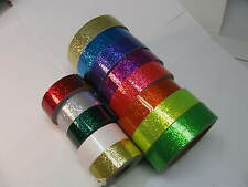 6 Rolls of Glitter Flake Vinyl Tape,  choose your color and sizes. Sparkle Tape