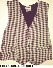 NEW FLAX QUILTED LINEN 2003 TEMPERATE HAYMAKER VEST  pic size & color