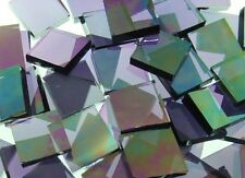 PURPLE IRIDESCENT WATERGLASS handcut stained glass mosaic tiles #397
