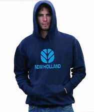 NEW HOLLAND TS115 LOADER BALER FARM COMBINE TRACTOR FARMER PRINTED MENS HOODIE