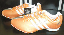 Adidas Adizero MD Middle Distance Track & Field Shoes Orange/White/Silver