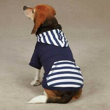 Casual Canine Americana Stripe Dog Pullover Navy Blue NEW