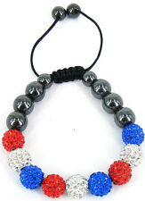 Stringless Shamballa friendship bracelet crystal disco ball sparkling bead